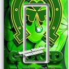 LUCKY CLOVER GOOD LUCK HORSESHOE SINGLE GFCI LIGHT SWITCH WALL PLATE HOME DECOR