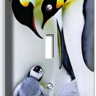 KING PENGUINS COUPLE CUTE BABY SINGLE LIGHT SWITCH WALL PLATE COVER ROOM DECOR