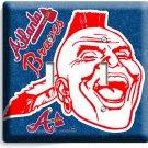 ATLANTA BRAVES MLB BASEBALL DOUBLE LIGHT SWITCH PLATE GAME TV BOYS ROOM MAN CAVE