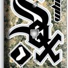 CHICAGO WHITE SOX BASEBALL TEAM PHONE JACK TELEPHONE WALL PLATE COVER HOME DECOR