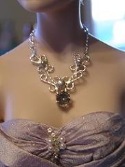 Custom Sterling Silver Filigree Doll Necklace