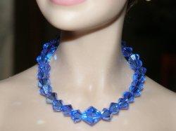 Sapphire Blue Swarovski Crystal Necklace