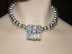 Triple Crystal Bar Necklace