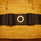 Ata Grass Personalized Handbag, Rhinestone Buckle