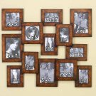 Wall Photo Frame For 13 Photos - Brown