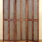 WOODEN 3 PANEL SCREEN 72 inch H 60 inch W