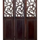 Oxford Dark Cherry Wood Room Divider - 3 Panel Screen