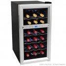 EdgeStar 18 Bottle Dual Zone Wine Cooler TWR181ES - Digital Control