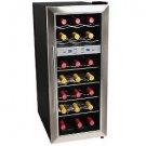EdgeStar 21 Bottle Dual Zone Wine Cooler Refrigerator - Stainless Steel