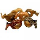 Mahogony Animal Napkin Rings