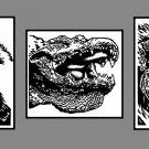 Wolf,Gator,Lion Set of Prints