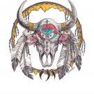 Mushroom Buffalo Skull
