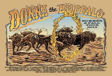 Donna the Buffalo Winter 2016 Tour Poster