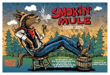 Smokin' Mule 2016 Fall Tour Poster