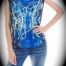 NEW nwt Oora By M Pokora Women Sleeveless Blouse/Shirt/Vest US Size M/MED/Medium