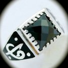 RARE Estate Vintage MAN Hematite Gems SOLID 925 STERLING SILVER RING Size 11