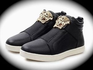 WOMEN Black Medusa High Top Hip Hop Casual Shoe/Boot/Sneaker Designer Style 10.5