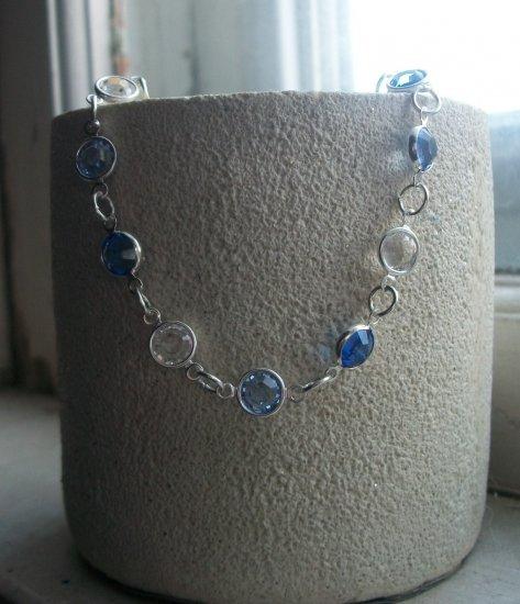 Swarovski metal link bracelet