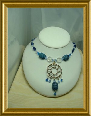 Lapis Scarab necklace