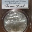 2003 American Silver Eagle Signature Series Jessica Lynch PCGS MS69