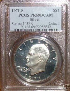 1971-S Eisenhower Silver PR69DCAM  PCGS!!!
