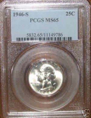 1946 S Washington Quarter MS65 PCGS!!!
