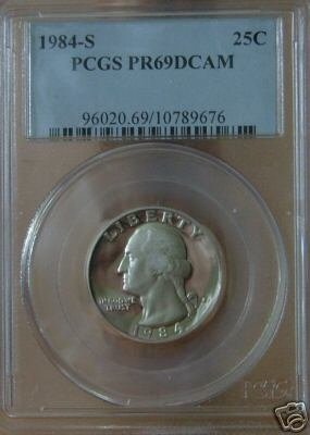 1984-S Proof Washington Quarter PR69DCAM  PCGS!!!