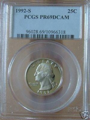 1992-S Washington Quarter PR69DCAM PCGS!!!