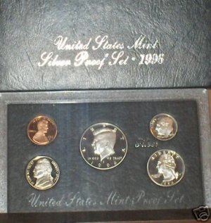 1996-S Deep Cameo Silver Proof Set Better Year!!