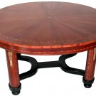 FRENCH ART DECO ROUND Dining room table LELEU
