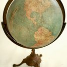 "18 "" TERRESTRIAL  ANTIQUE  TABLE GLOBE  JOHNSON"