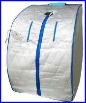 Portable Far Infrared Sauna Silver Large Free Shipping