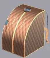 Portable Far Infrared Sauna Brown Large Free Shipping