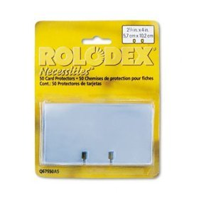 Rolodex Transparent Card Sleeves 67650 2.25X4 Pkg of 50 FREE SHIPPING