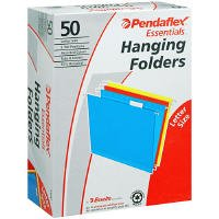 Pendaflex Hanging File Folders Letter Asst Colors 91047 Qty 50 FREE SHIPPING