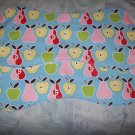 Adorable Apples & Pears Burp Cloths