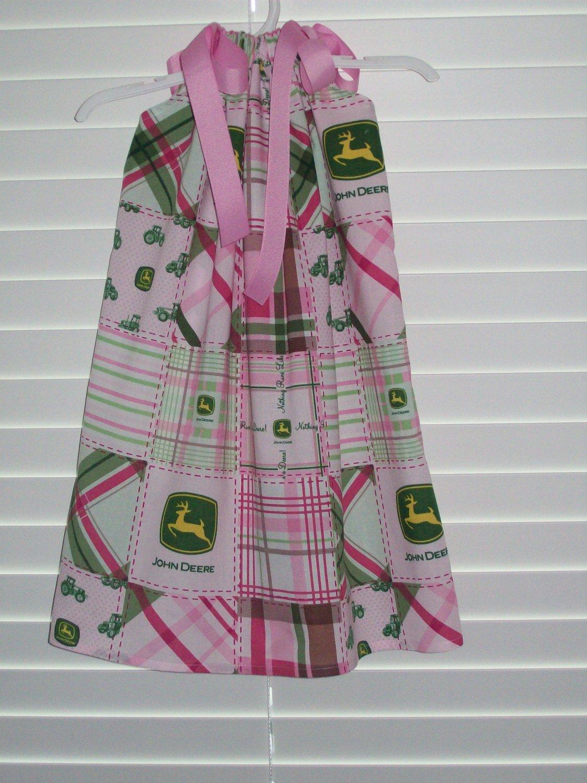 Pink John Deere Pillowcase Dress