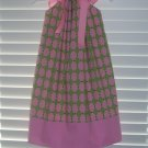 AKA Pink & Green Pillowcase Dress