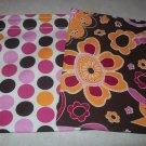 Polka Dot &  Brown Floral Reusable Sandwich/Snack Bag Set
