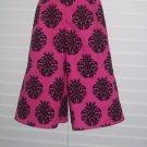 Hot Pink Black Medallion Gauchos
