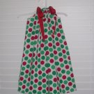 Christmas Green Red Polka Dot Pillowcase Dress