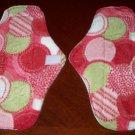 Set of 2 Pastel Dots Cloth Menstrual Pads