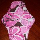 Brown Pink Floral Cloth Menstrual Pad