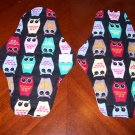 Set of 2 Owl Cloth Menstrual Pads