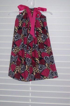 Animal Print Valentine Hearts Pillowcase Dress