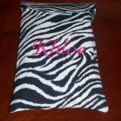 Travel Zebra Print Diaper and Wipes Case Holder