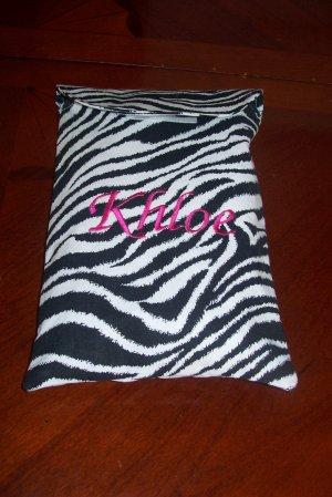 Travel Zebra Print Diaper and Wipes Case Holder