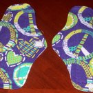 Set of 2 Peace Cloth Menstrual Pads