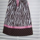 Brown White Zebra Print Pillowcase Dress