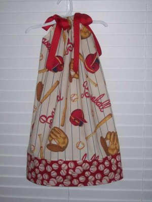 Daddy's Little Baseball Fan Pillowcase Dress